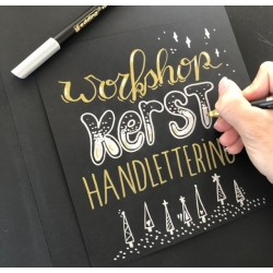 handlettering 'Kerst'