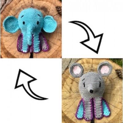 haakpatroon omkeerbare olifant muis