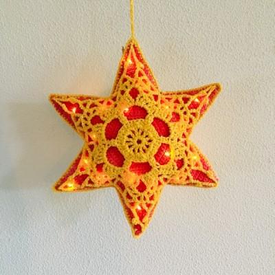 Haakpatroon 3D Kerst-ster met verlichting